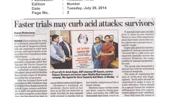 Faster trials may curb acid attacks : Survivors – Hindustan Times