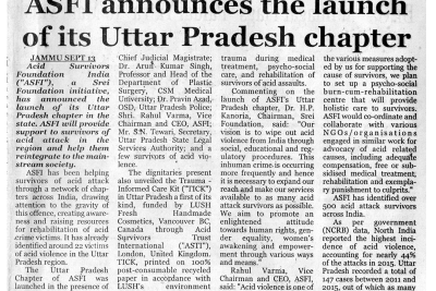 Launch of ASWWF Uttar Pradesh Chapter-The Financial Explorer