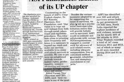 Launch of ASWWF Uttar Pradesh Chapter-Dogra Herald
