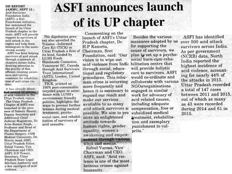 Launch of ASWWF Uttar Pradesh Chapter-Dogra Herald