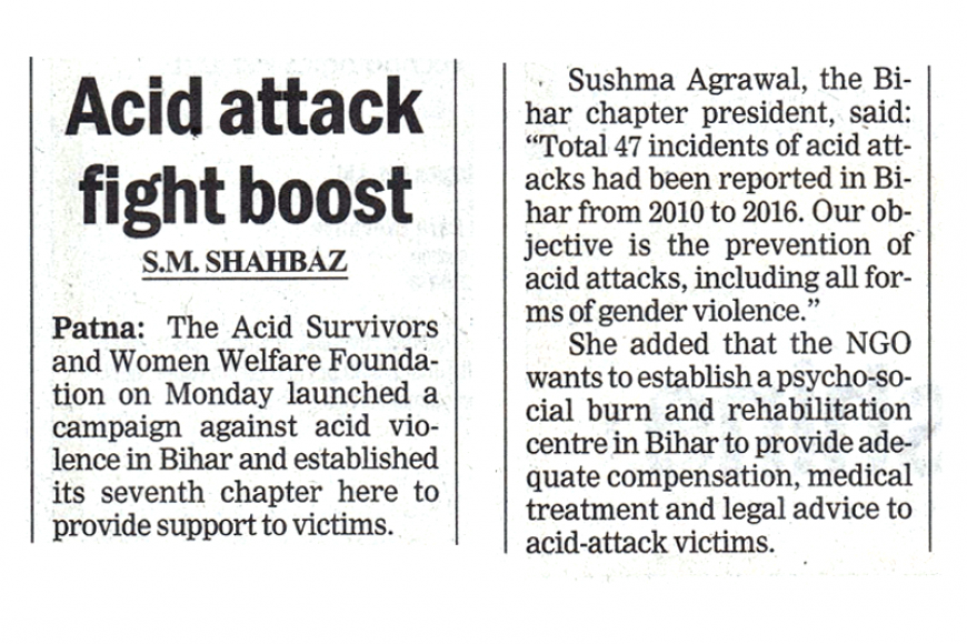 Launch of ASWWF Bihar Chapter-The Telegraph