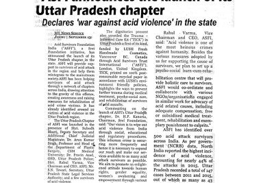 Launch of ASWWF Uttar Pradesh Chapter-Mercury Times
